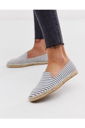ASOS Mujer Alpargatas - Jual espadrilles in blue stripe