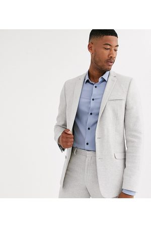 ASOS Tall wedding skinny suit jacket in ice grey twill