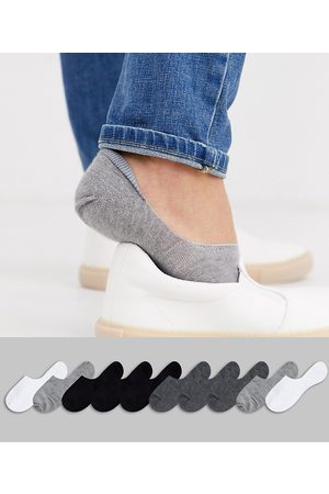 ASOS 10 pack invisible liner sock in monochrome save