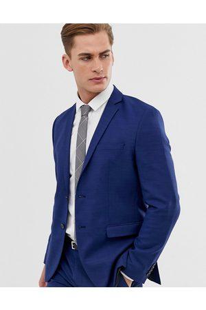 Jack & Jones Premium slim fit stretch suit jacket in blue