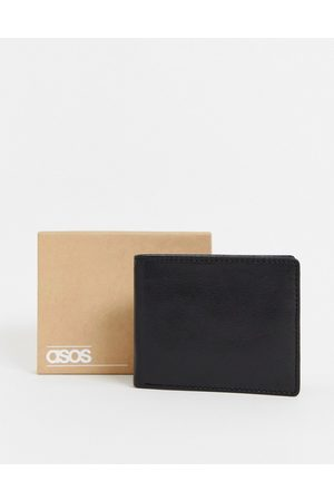 ASOS Leather wallet in black with internal coin purse