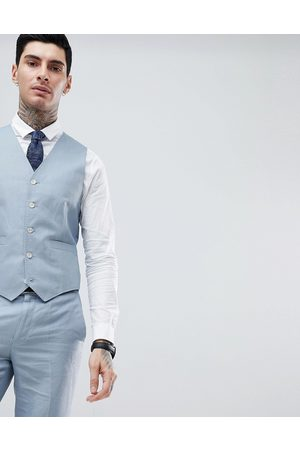 Gianni Feraud Wedding Slim Fit Plain Linen Waistcoat