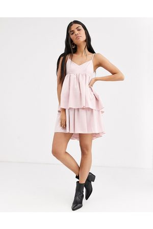 Lost Ink Cami dress with tiered skirt