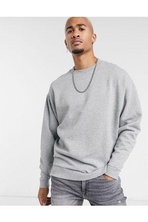 ASOS Oversized sweatshirt in grey marl