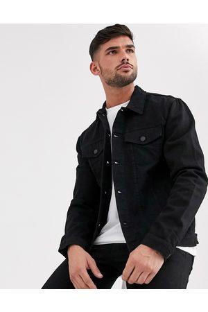 New Look Regular fit denim jacket in black wash