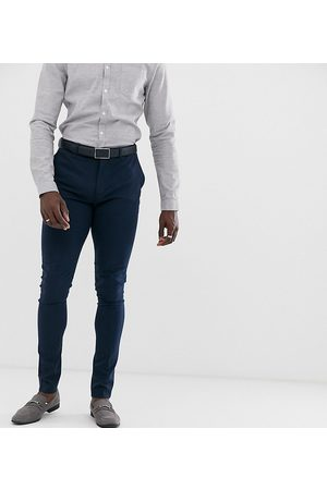 ASOS Tall super skinny fit suit trousers in navy