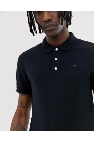 Tommy Hilfiger Hombre Polos - Pique polo shirt in black