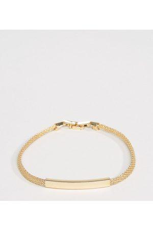 DesignB London DesignB chain id bracelet in gold exclusive to asos