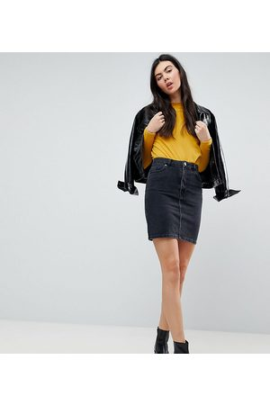 ASOS ASOS DESIGN Tall denim original high waisted skirt in washed black