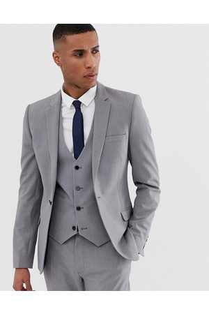 ASOS Super skinny suit jacket in mid grey