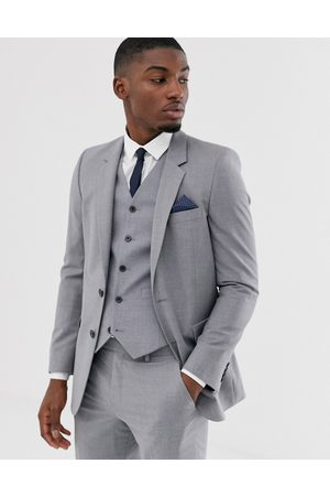 ASOS Slim suit jacket in mid grey