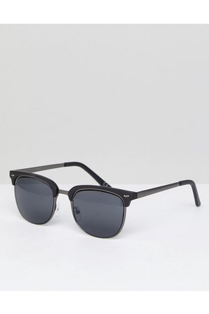 ASOS Retro sunglasses in gunmetal & matte black