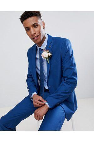 Farah Farah skinny wedding suit jacket in blue