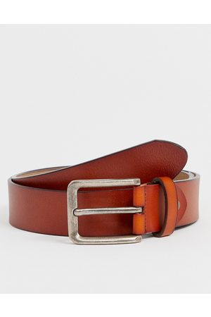Only & Sons Leather belt in tan