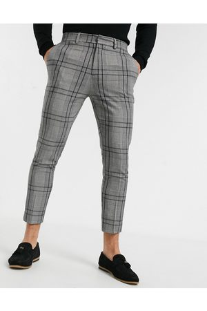 New Look Bold skinny crop trouser in mid grey