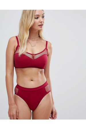 Pour Moi Glamazon high leg bikini bottom in berry