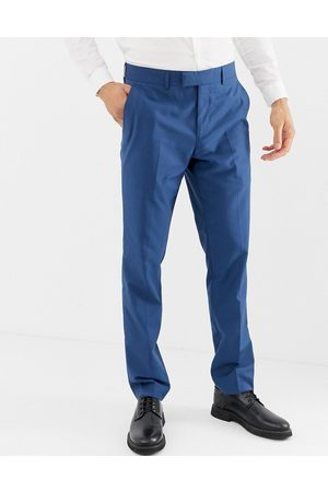 Farah Farah Henderson skinny fit suit trousers in blue