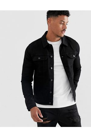 ASOS Skinny western denim jacket in black