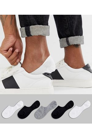 ASOS 5 pack invisible liner sock in monochrome save