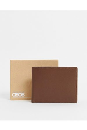 ASOS Leather wallet in brown with internal coin purse