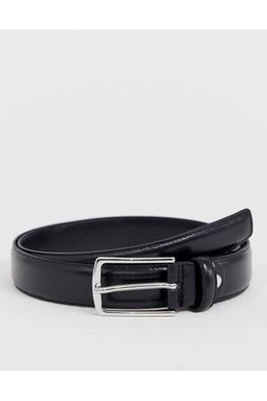 Jack & Jones Premium leather belt in black