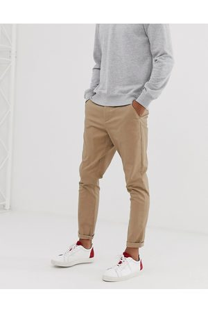 ASOS Tapered chinos in stone