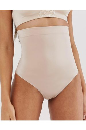 Spanx Suit Your Fancy high waist shaping thong in champagne
