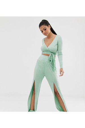 South Beach Split front yoga pant in mint