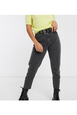 Noisy May Ankle grazer mom jean in black