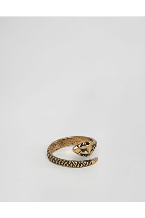 ASOS Ring with wrap around snake in burnished gold tone