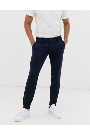 Only & Sons Slim tapered fit trousers in navy