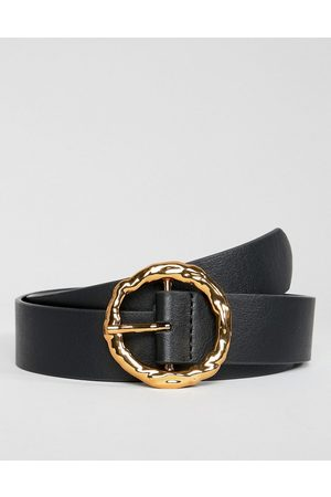ASOS Hammered gold circle waist & hip jeans belt