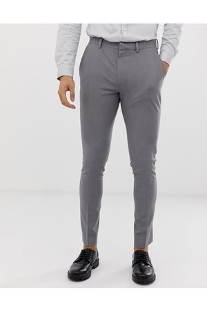 ASOS Super skinny work trousers in grey