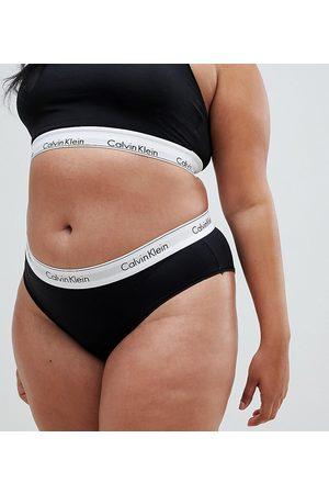 Calvin Klein Plus size modern cotton short brief in black