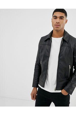 Bolongaro Slim fit leather jacket