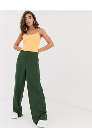 ASOS Wide leg trousers with clean high waist
