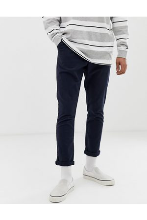 ASOS Tapered chinos in navy