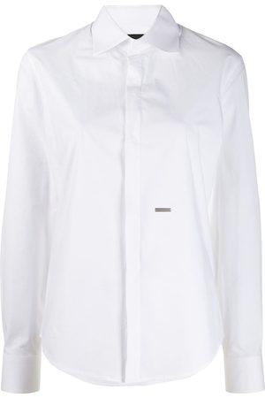 Dsquared2 Mujer Manga larga - Logo plaque long-sleeve shirt