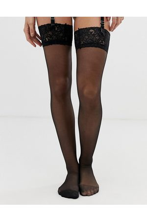 Ann Summers Lace top glossy stocking