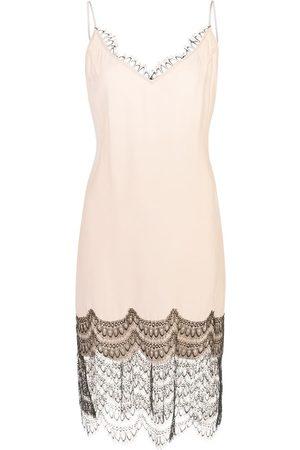 Kiki de Montparnasse Mujer De encaje - Slip dress con ribete de encaje