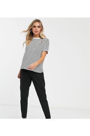 ASOS Mujer Leggings y treggings - ASOS DESIGN Maternity under the bump smart slim trouser in ponte
