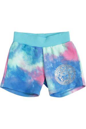 VERSACE Shorts Deportivos De Algodón Tie Dye