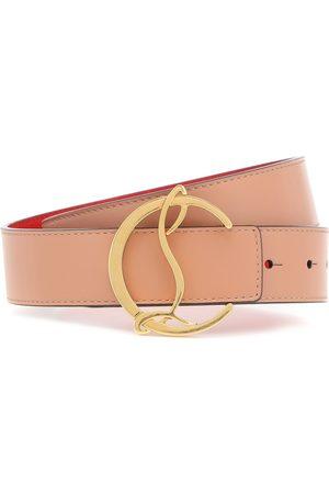 Christian Louboutin CL Logo leather belt
