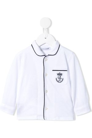 Dolce & Gabbana Long-sleeved embroidered logo shirt