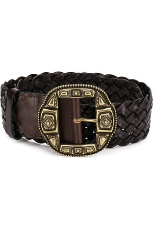 Etro Mujer Cinturones - Woven statement buckle belt