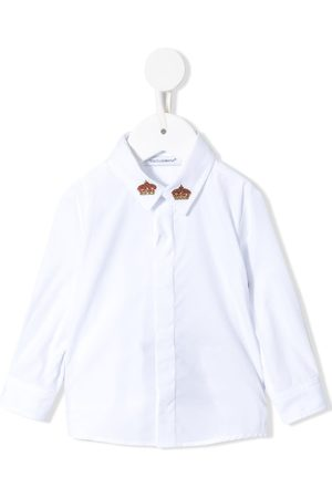 Dolce & Gabbana Crowns-embroidered long sleeves shirt
