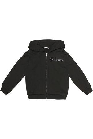Dolce & Gabbana Niña Con capucha - Logo cotton-jersey hoodie