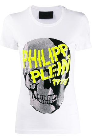 Philipp Plein Playera manga corta con calavera con detalles