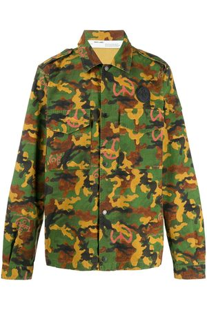 OFF-WHITE Hombre Camisas - Camouflage print shirt