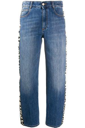 Stella McCartney Mujer Jeans - Jeans capri con franja con logo